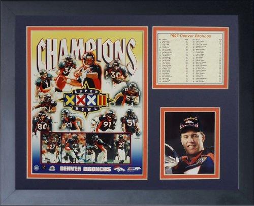 Legends Never Die 1997 Denver Broncos Super Bowl Champions Framed Photo Collage, 11x14-Inch