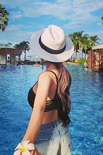 pure white choke small chili panama hat cap men women summer unique collapsible sun women girls beach vacation