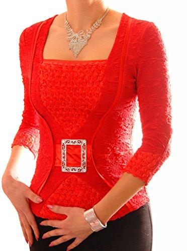 Poshtops - Camiseta - para mujer Coral