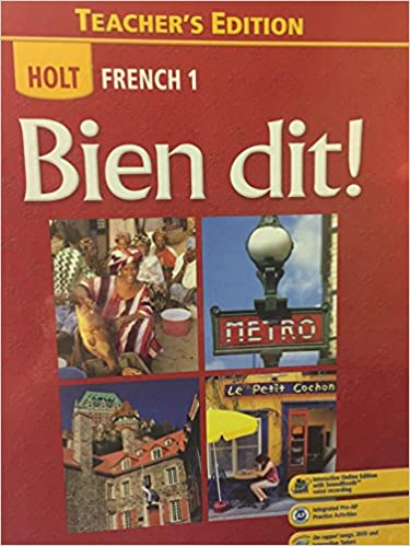 Holt French 1 Bien Dit Teacher S Edition John DeMado