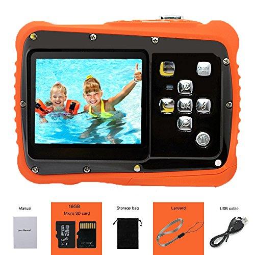 YTAT Digital Camera for Kids, Waterproof Kids Digital Camera, Underwater Action Camera Dust Proof Camcorder with 16G SD Card 5M CMOS for Children Boys Girls Gift Toys (Black)