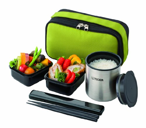 Tiger thermos thermal insulation lunch box stainless steel lunch jar bowl about 1.2 cups of green LWY-R024-G Tiger by Tiger Corporation (TIGER)