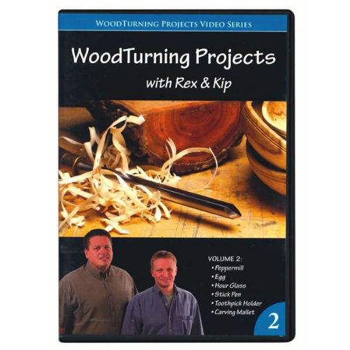 Woodturning Projects with Rex and Kip Volume 2 DVD (Rex Wood)