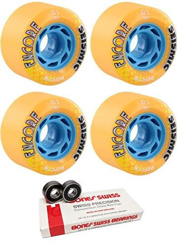 【在庫処分大特価!!】 Seismic スケートシステム 63.5mm Encore Mango Defcon ボーン ロングボードスケートボードホイール ボーンベアリング付き 2個セット - Encore 8mm ボーン スケートボードベアリング - 2個セット B07KR6CLWV, アトリエ22:5c2af76e --- mvd.ee