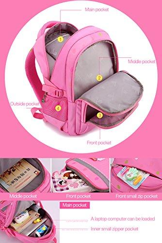 Uniuooi Primary School Bag Backpack for Girls 7-12 Years Old Waterproof  Nylon Kids Schoolbag Laptop Bag Travel Rucksack (Grey) - Buy Online in KSA. 439898f9044b5