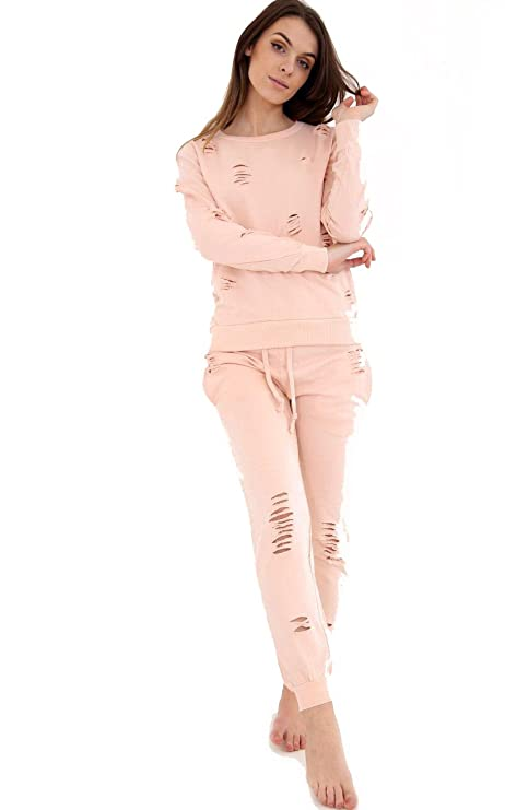 7 Fashion Road - Chándal - para Mujer Rosa Color Carne S-M: Amazon ...