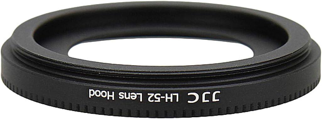 JJC LH-52 Metal Lens Hood for Canon EF 40mm f//2.8 STM Canon 40mm 2.8 Lens Hood replaces Canon ES-52 Lens Hood EF-S 24mm f//2.8 STM and EF-M 18-55mm f//3.5-5.6 IS STM lens