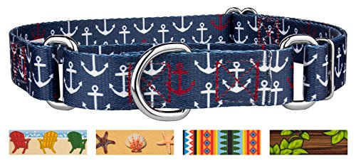 Country Brook Design Anchors Away Martingale Dog Collar - Large