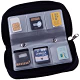 22 Slots Case Pouch Holder for Memory Card Sd Card.memory Card Carrying Case Memory Card Holder (2 Packs)