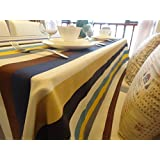 CJ Fashion Stripes Burlap Table Runner For Ourdoor Wedding Party Tablecloth