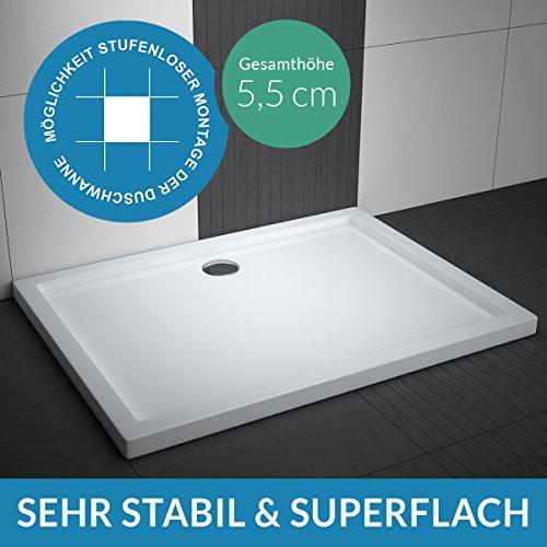 Duschwanne AQUABAD® Comfort Villa Flat 90x120cm Superflach Rechteck