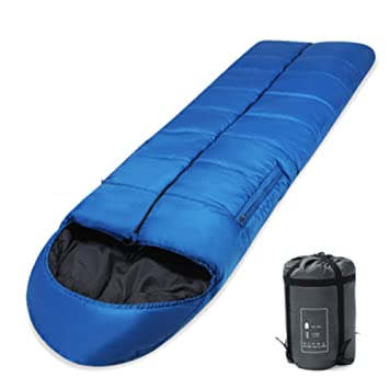 HM&DX Verano Saco de Dormir Camping Envoltura Adultos 3 Temporadas Portátil Ultraligero Bolsa de Dormir con