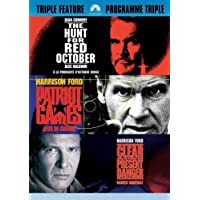 Jack Ryan Triple Feature - The Hunt For Red October / Patriot Games / Clear and Present Danger (3DVD) (Bilingual)