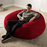 Jaxx 5 Foot Saxx - Big Bean Bag Chair for Adults, Cinnabar