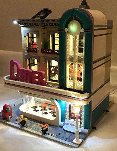 brickled LED Lighting Kit for Lego Downtown Diner 10260 (Lego Set not Included)