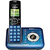 VTech CS6429-15 DECT 6.0 Cordless Phone with Digital Answering System and Caller ID, Expandable up to 5 Handsets, Wall Mountable, Blue