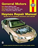 General Motors Buick Regal, Chevrolet Lumina, Olds Cutlass Supreme, Pontiac Grand Prix