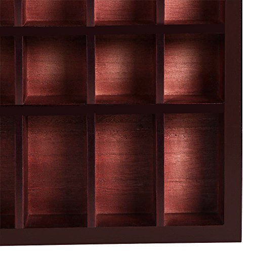 Storage Wooden Display Cabinet Modern Shelves Wall Glass Case Box Collectibles with ebook by MRT SUPPLY (Image #8)