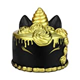 callm Squishies Cake Style Slow Rising Jumbo Squishy Toys Kawaii Cute Scented Squishies Kids Party Squishy Stress Reliever Toy (Black)