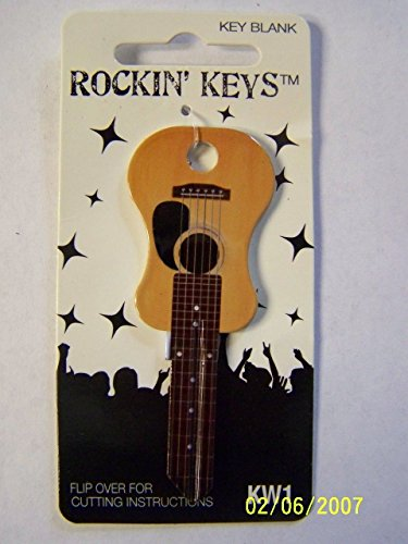 Acoustic Guitar shape Kwikset KW1/KW10 house key blank.