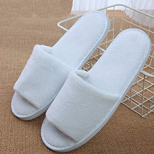 Uso Salón Belleza De O Blanco 20 Spa El Para Desechables Lss En Zapatillas Cómodas Del Hotel Comercial color Pairs 40 Pairs Hogar 8fqAxOw