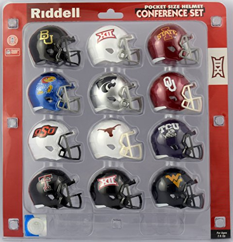 College Football Helmet Game (Big Twelve Pocket Size Helmet Conference Set 2017)