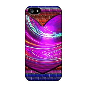 Faddish Phone Abstract Fractal Heart Case For Iphone 5/5s / Perfect Case Cover