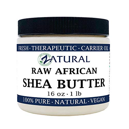 Raw Shea Butter-100% Pure, Virgin, Unrefined, Raw Ivory Shea Butter from NakedOil (16 Ounce) (Best Pure Shea Butter)