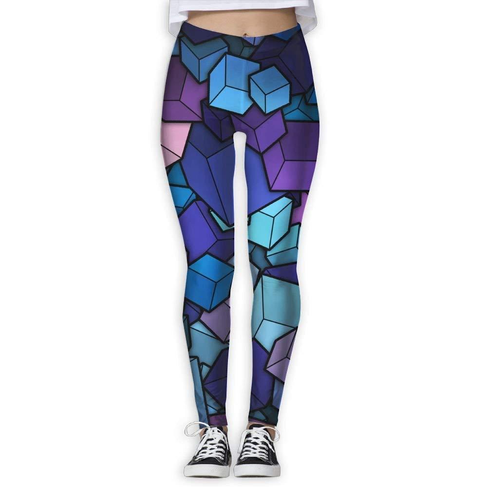 Aeykis Mujeres/Chica Yoga Pantalones Cubos Arte Cintura alta ...