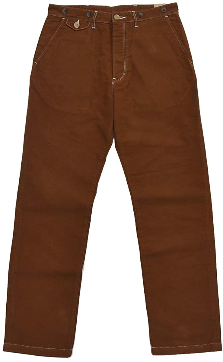 Men's Vintage Workwear Inspired Clothing BOB Dong Casual Twill Chino Vintage Style Mens Pants with Suspender Buttons $82.99 AT vintagedancer.com
