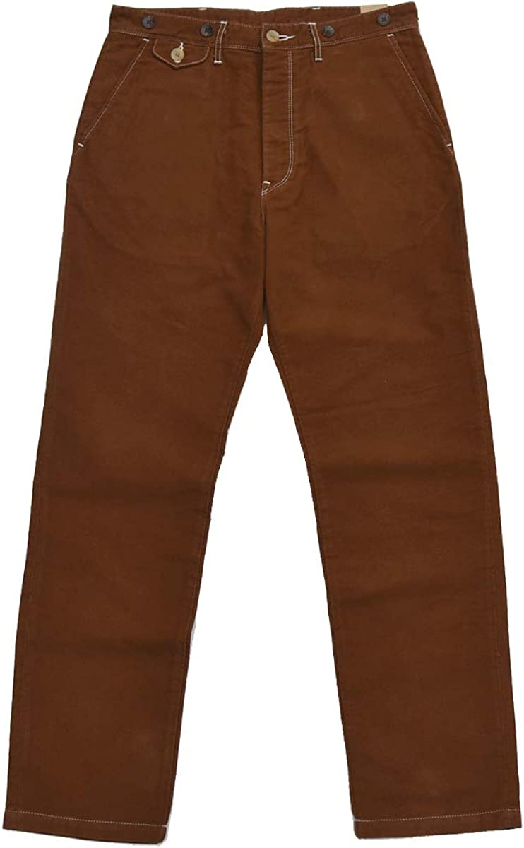 1920s Men's Pants, Trousers, Plus Fours, Knickers BOB Dong Casual Twill Chino Vintage Style Mens Pants with Suspender Buttons $82.99 AT vintagedancer.com