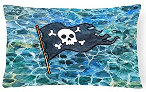 """Caroline tesoros del bb5342pw1216pirata bandera lienzo Tejido decorativo almohada, 12hx16W """", multicolor"""
