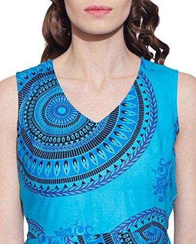 Vêtements pour femmes Robe en coton imprimé, lavable en machine, W-CPD32-1603, Taille-32 pouces