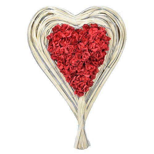 The Holiday Aisle Rose Heart Floral Arrangement in Basket ()