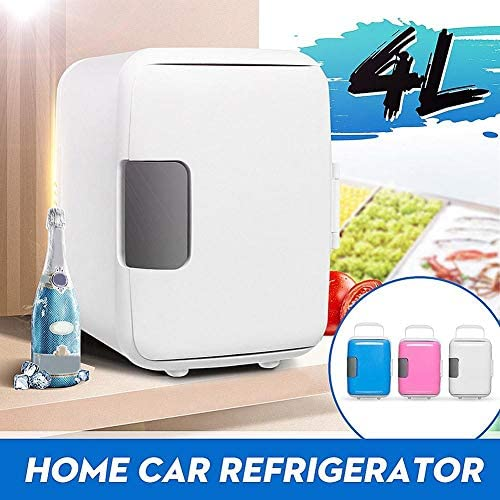 gdfh Portable Thermostat Refrigerator Dual-Use 4L Refrigerator Low Noise Mini Refrigerator Heating And Cooling Dual-Use