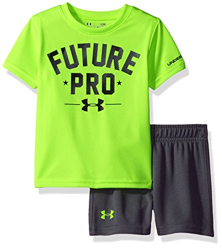 Under Armour Baby Boys' Bodysuit OR Infant Tee/Tank Short Set, Fuel Green, 3-6M