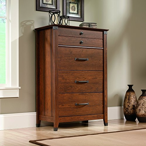 sauder-carson-forge-chest-in-washington-cherry-with-four-drawers