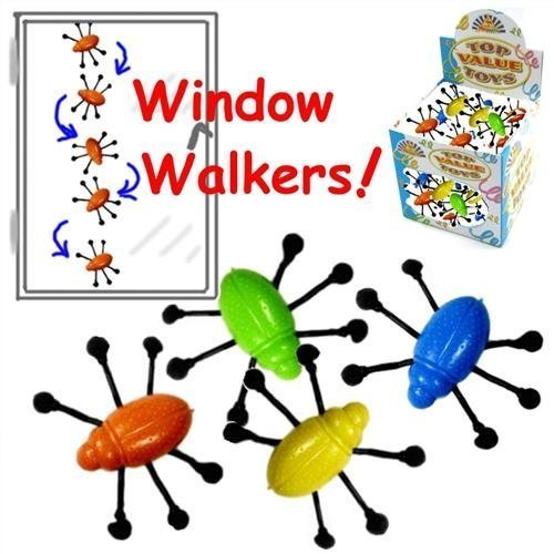 12 x Window Crawler Bugs ~ Party loot bag fillers toys (Bags Favor Window)