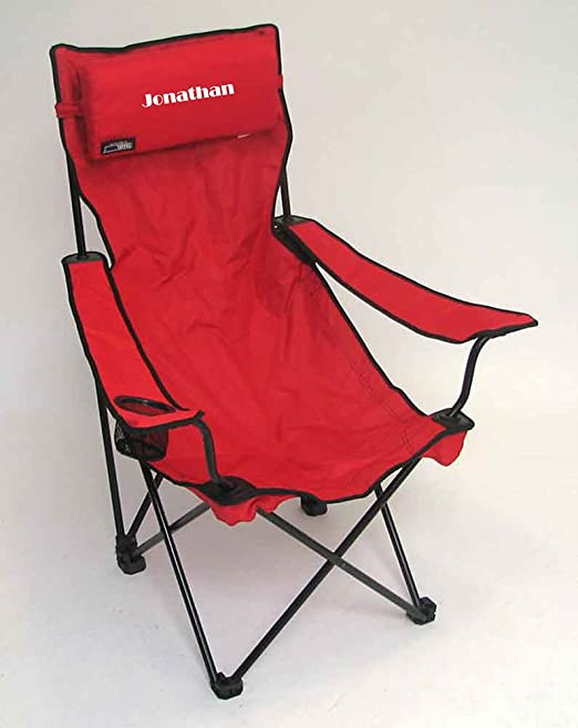 Amazon.com  PERSONALIZED IMPRINTED Classic Bubba Hi-Back Quad Chair - Black  Folding Chairs  Sports u0026 Outdoors & Amazon.com : PERSONALIZED IMPRINTED Classic Bubba Hi-Back Quad Chair ...
