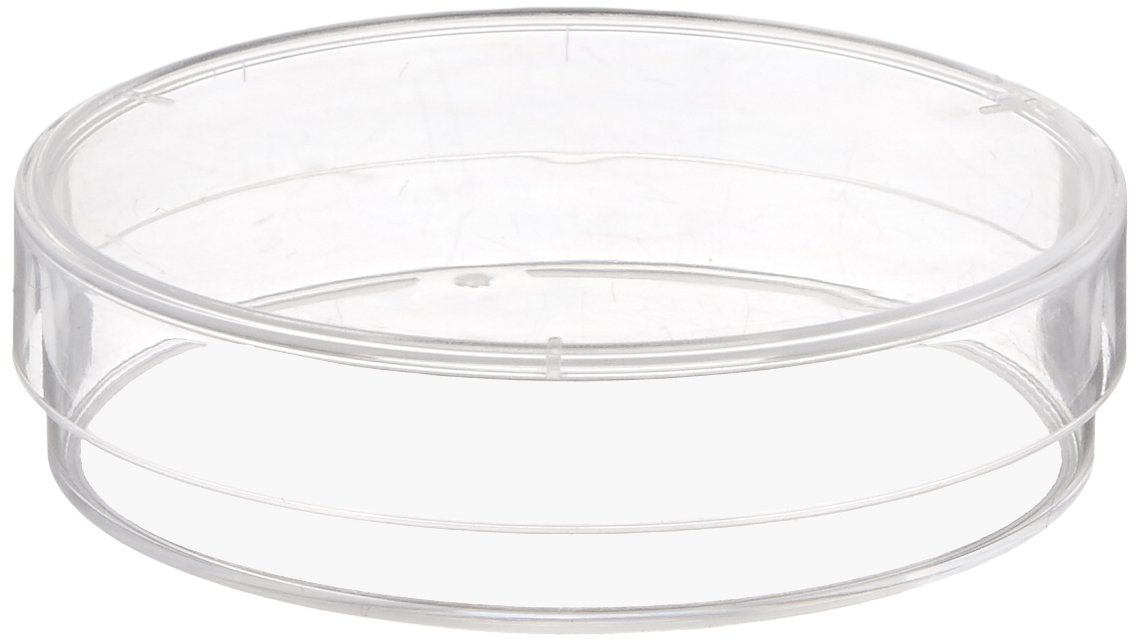 Karter Scientific 206D2 Plastic Petri Dishes, 60 mm x 15 mm, 3 Vents, Sterile (Pack of 10)