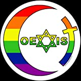 Coexist Round Rainbow Sticker 4-inch Gay Rights