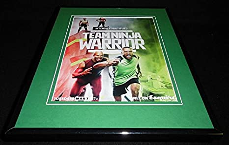 Team Ninja Warrior 2017 Esquire Framed ORIGINAL 11x14 ...