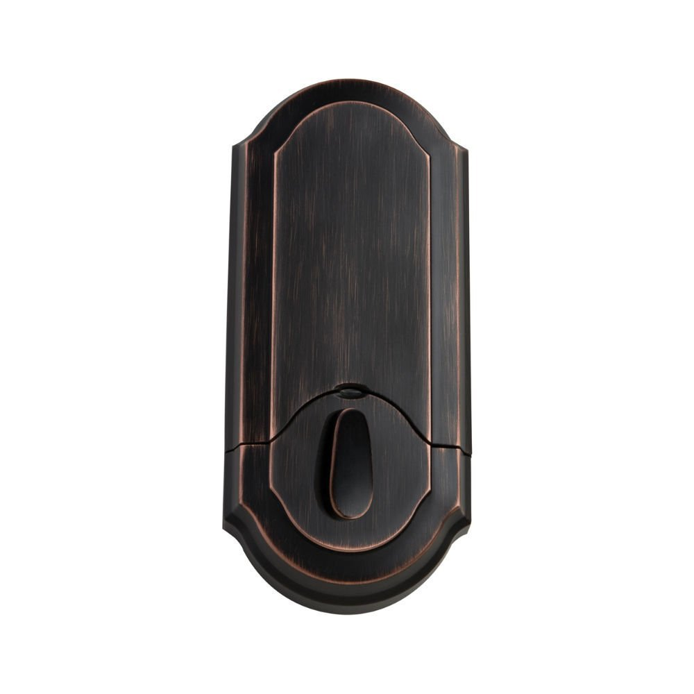Kwikset 909 SmartCode Electronic Deadbolt Featuring SmartKey in Venetian Bronze
