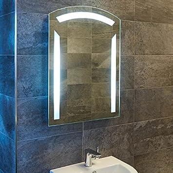Illuminated LED Bathroom Mirror 800x600 Glass
