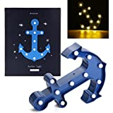 Hitommy Cute Marquee Anchor 11 LED Night Light Battery Lamp Baby Kids Bedroom Home Decor