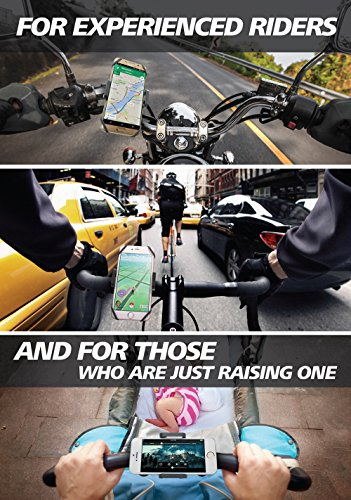Bike-Motorcycle-Phone-Mount-For-iPhone-7-5-6-6s-Plus-Samsung-Galaxy-or-any-Cell-Phone-Universal-ATV-Mountain-City-Road-Bicycle-Handlebar-Holder-100-to-Safeness-Comfort