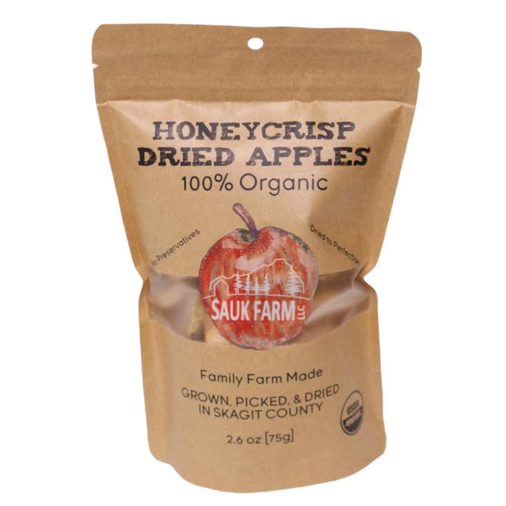 Sauk Farm LLC Honeycrisp Dried Apples, Certified Organic, Vegan, 2.6 Ounce
