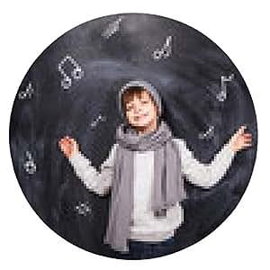 alfombrilla de ratón El niño se acuerda de notas - ronda - 20cm