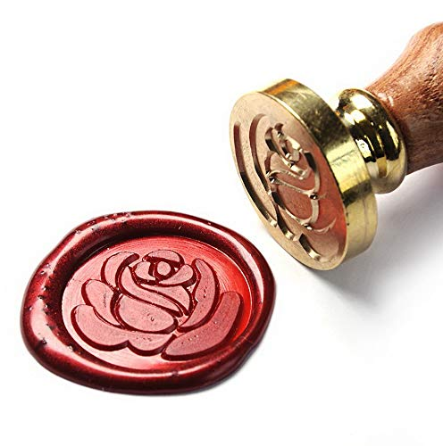 Mikash Art & Crafts Romance Love Rose Wax Seal Stamp, Great for Tion of Envelope, Post Card, Snail Mail, Wedding Invitations, Wine Package, Snail Mails, Gift Idea | | Model WDDNG - 2321 ()