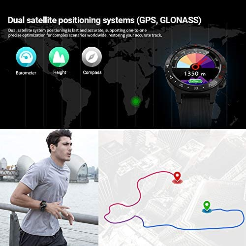 Anmino Smart Watch (GPS +Barometer+Altimeter+Compass),Full HD Touchscreen,All-Day Heart Rate and Activity Fitness Tracker,Pedometer,Calorie Counter,Sleep Tracker,Bluetooth smartwatch 51hnzXBNU 2BL